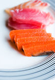Japanese raw fish Royalty Free Stock Photos
