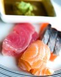 Japanese raw fish Royalty Free Stock Images