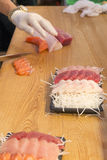 Japanese raw fish, sasimi Royalty Free Stock Image