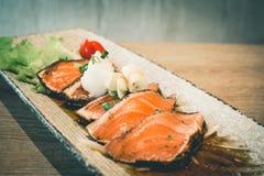 Japanese raw salmon salad Royalty Free Stock Images
