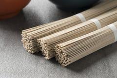 Japanese raw soba noodles. Bundles Royalty Free Stock Photo