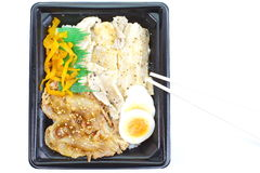 Japanese ready-made lunchbox, Bento Stock Photo