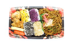 Japanese ready-made lunchbox, Bento Stock Images