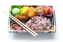 Japanese ready-made lunchbox, Bento Royalty Free Stock Images