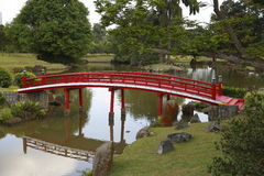 Japanese red bridge 4 Stock Photos