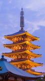 Japanese red pagoda Stock Photo