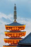 Japanese red pagoda Royalty Free Stock Photo