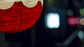 Japanese red paper lantern Royalty Free Stock Photo