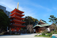 Japanese red temple Royalty Free Stock Photos