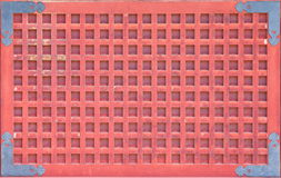 Japanese red temple wall Stock Images