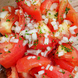 Japanese red tomato salad Royalty Free Stock Images
