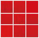 Japanese red traditional patterns Royalty Free Stock Photo