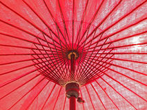 Japanese red umbrella Royalty Free Stock Images