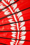 Japanese Red Umbrella. Details of Japanese Tradisional Red Umbrella Royalty Free Stock Photos