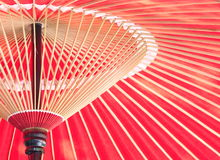 Japanese red umbrella Royalty Free Stock Photography