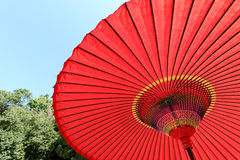 Japanese red umbrella Royalty Free Stock Photo