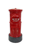 Japanese red vintage mailbox, letterbox, postbox Royalty Free Stock Images