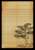 Japanese reed mat Royalty Free Stock Images