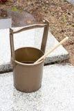 Japanese religous bucket and radle to  baptize Stock Image