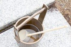 Japanese religous bucket and radle to  baptize Stock Photos