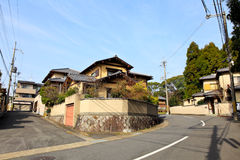 Japanese residential house Royalty Free Stock Photo