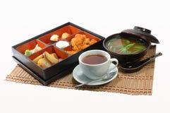 Japanese restaurant. Complex dinner at the Japanese restaurant stock images
