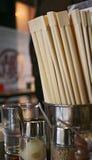 Japanese Restaurant. Chopsticks in a Japanese restaurant Stock Image