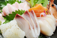 Japanese restaurant. Japan delicious delicious raw fish dishes Royalty Free Stock Photo