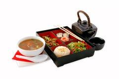 Japanese restaurant. Complex dinner at the Japanese restaurant On a white background stock image