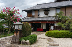 Japanese restaurant exterior in Magome, Kiso Valley royalty free stock photography