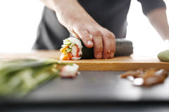 Japanese restaurant, sushi dish Royalty Free Stock Photography