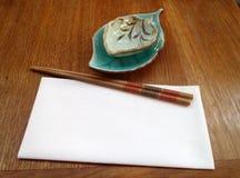 Japanese restaurant utensils Stock Photo