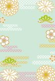 Japanese retro floral background Stock Photos