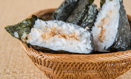 Japanese Rice Ball III Royalty Free Stock Images