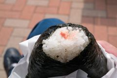 Japanese Rice ball stock photography