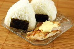 Japanese rice balls ( onigiri ) Royalty Free Stock Photos