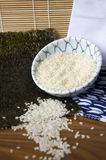 Japanese rice in bowl Stock Image