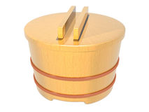 Japanese rice container Stock Images