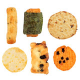 Japanese Rice Cracker Selection Royalty Free Stock Images