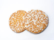 Japanese Rice Crackers, Sembei royalty free stock images