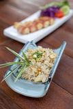 Japanese rice fried with garlic Royalty Free Stock Photography