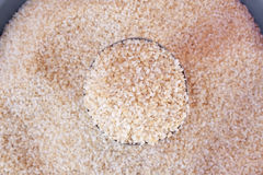Japanese rice grain in cup Royalty Free Stock Photography