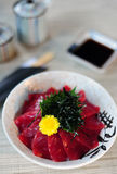 Japanese Rice with Maguro Stock Photos