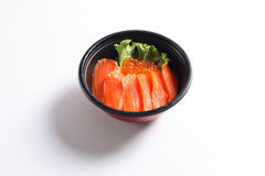 Japanese Rice with Salmon Royalty Free Stock Photography