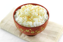 Japanese rice with sesame seeds Stock Images