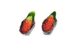 Japanese rice sushi with fish eggs. Japanese rice sushi with fish egg Stock Photography