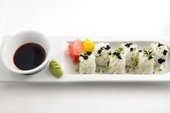Japanese rice sushi portion Stock Photo