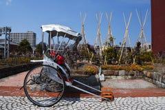 Japanese rickshaw at Otaru city. Hokkaido, Japan Royalty Free Stock Images
