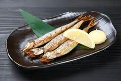Japanese roasted shishamo fish Royalty Free Stock Photo