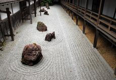 Japanese rock garden Stock Photos